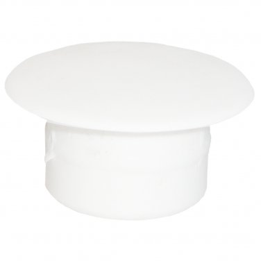 12mm x 8mm x 18mm White Plastic Hole Filler Cover Cap (20 Pack)