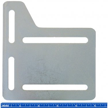 "5"" Bed Rail Frame Headboard Modification Adapter Plate Steel, Horizontal and Vertical Adjustments"