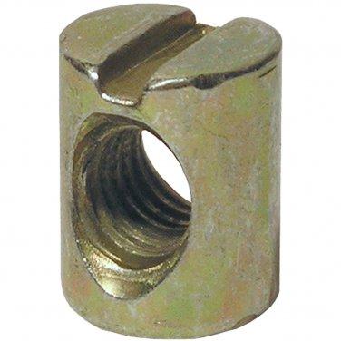 6mm x 13mm x 10mm  Barrel Nuts.  M6 x 1.0 Threaded Cross Dowel Nuts 4 Pack