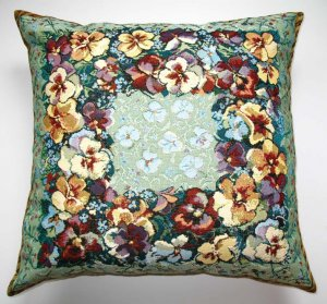 PANSY - TAPESTRY PILLOW COVER - ART DECORATIVE CUSHION