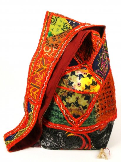 Tribal Bag with floral patchwork
