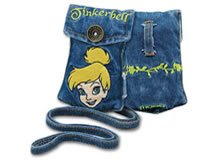 Brand New Embroidered Tinker Bell Cell Phone Accessories Camera MP3 iPod Jean Pouch & Strap MOBO USA