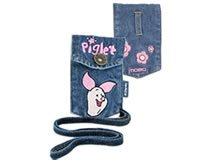 Brand New Embroidered Piglet Wireless Accessories Cell Phone MP3 iPod Jean Pouch with Strap MOBO USA