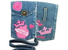 Brand New Embroidered High School Musical Cell Phone Accessories MP3 iPod Jean Pouch MOBO USA