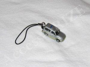 Cool New Gray Mini Car Cell Phone Charm Fingerstrap