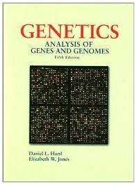 Genetics: Analysis of Genes and Genomes Hardcover ISBN-13: 978-0763709136 Science