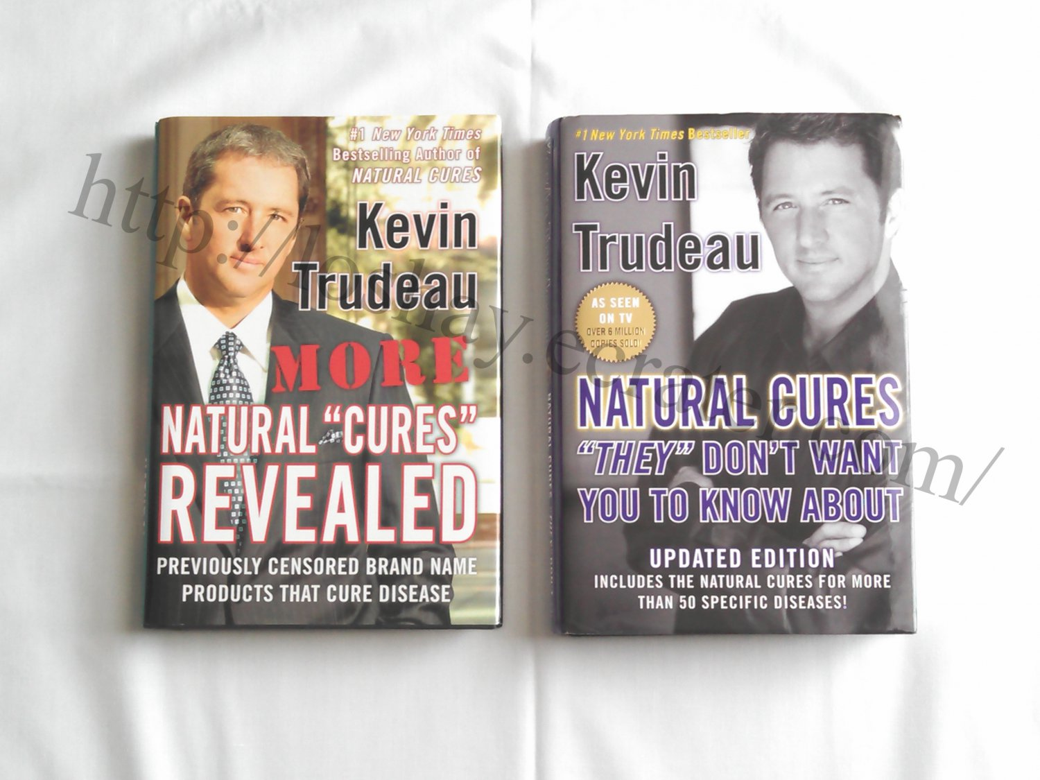 Lot 2 Kevin Trudeau Natural Secret Disease Cures Revealed Don't Want You To Know NY Bestsellers