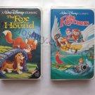 2 VHS Tapes Lot Black Diamond Classic The Fox and the Hound Black Diamond Classic The Rescuers
