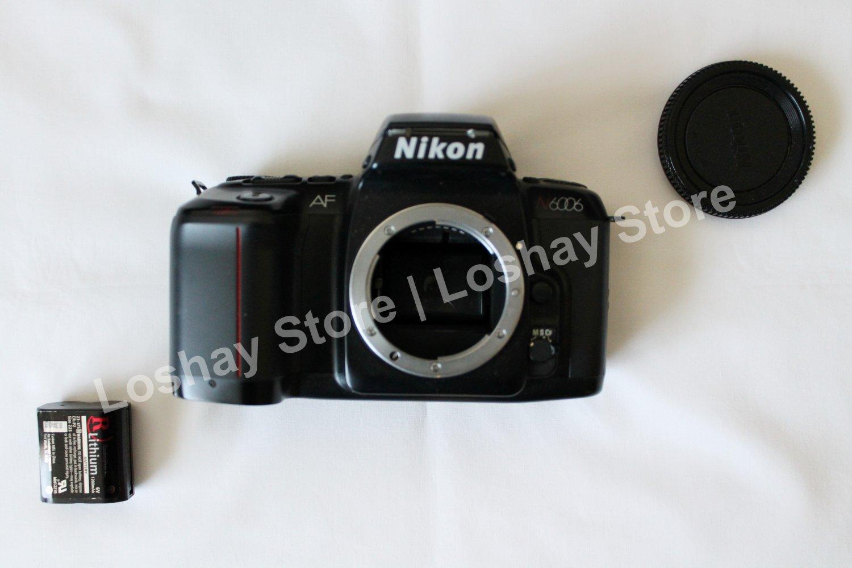 Nikon N6006 35mm SLR Film Black Camera Body - Untested/For Parts