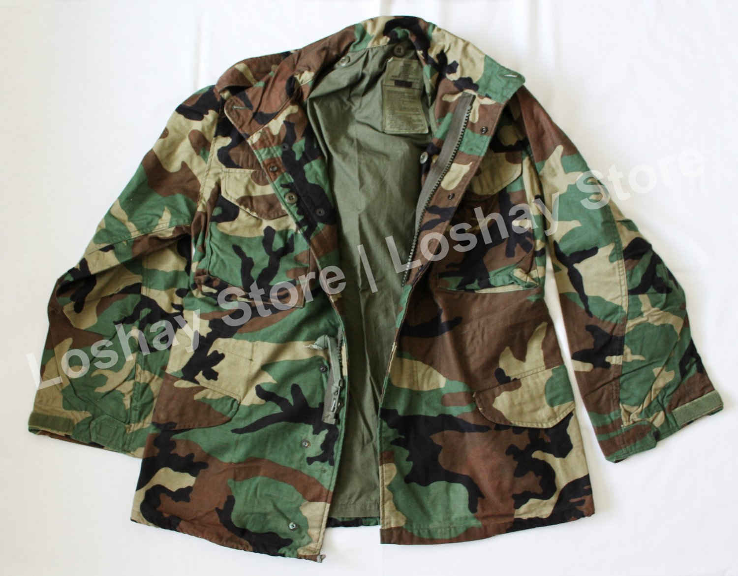 Hunting Season US Military Issue BDU Woodland Camouflage Field Jacket Camping Outdoors Paintball