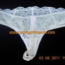 1XL Embroidered Lace Ivory  thong DISCOUNTS available