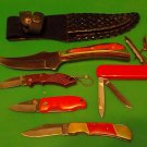 Lot 1,  5 Pc set is from old New knife's and Display Knives, Stock