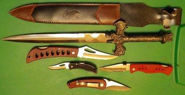 Lot 3 , 5 Pc Knife set,