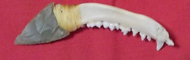#40  /   Racoon Jaw , Arrow head knife