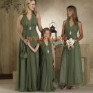 Kiwi Floor Length Halter Strap Chiffon Bridesmaid Dress/Evening Dress/Home Coming
