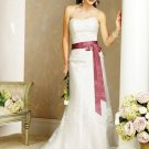 Sweetheart Neckline Strapless Appliques Tuller Wedding Dress Bridal Gown