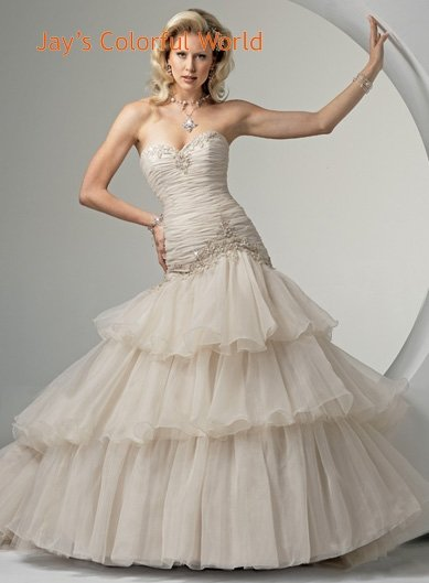 Sweetheart Neckline Strapless Lace up Wedding Dress Bridal Gown