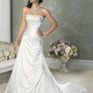 A-line Straight Neckline Strapless Wedding Dress Bridal Gown