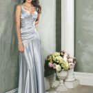 Custom made Sexy V-neckline Satin Wedding Dress Bridal Gown