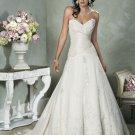 V-neckline Strapless Appliques Beading Taffeta Custom made  Wedding Dress Bridal Gown
