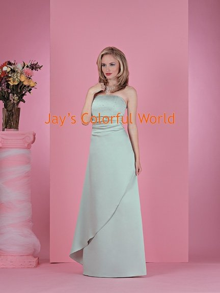 Strapless Beaded Floor-length Bridesmaid Dress/Evening Dress/Home Coming