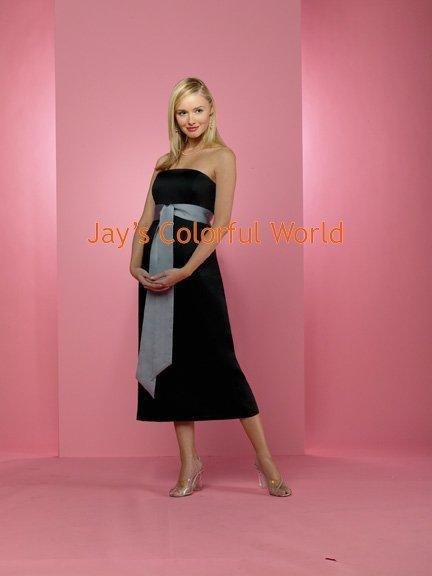 Black T-length Strapless Bridesmaid Dress/Evening Dress/Home Coming