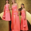 Custom-made Floor-length Strapless or Spaghetti Strap Bridesmaid Dress/Evening Dress/Home Coming