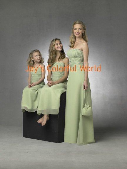 Kiwi Strapless or Spaghetti Strap Chiffon Bridesmaid Dress/Evening Dress/Home Coming