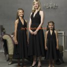 Black Tea-length Halter Strap Chiffon Custom-made Bridesmaid Dress/Evening Dress/Home Coming