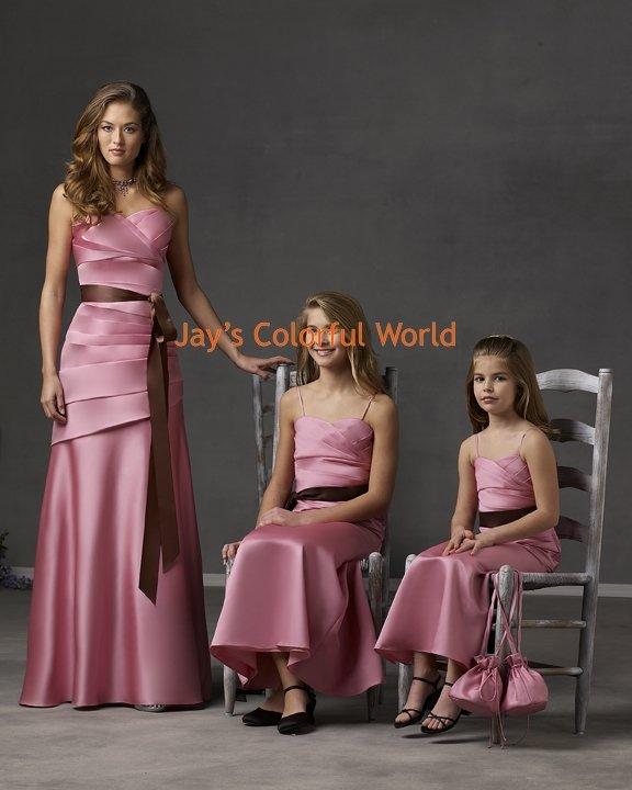 V-neckline Custom-made Bridesmaid Dress/Evening Dress/Home Coming