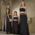 Straight Neckline Strapless Bridesmaid Dress/Evening Dress/Home Coming