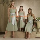 Kiwi Tea-length Sweetheart Neckline Chiffon Bridesmaid Dress/Evening Dress/Home Coming