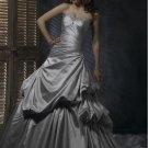 Sweetheart Neckline Strapless Lace-up Taffeta Custom made Wedding Dress