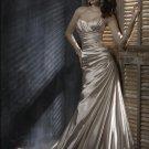 V-neckline Strapless Taffeta Bridal Gown