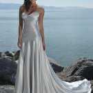 V Neckline Strapless Lace-up Wedding Dress Bridal Gown