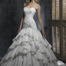 Sweetheat Strapless Backless Beaded Lace-up Taffeta Wedding Dress Bridal Gown