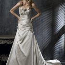A Line Strapless Lace-up Wedding Dress Bridal Gown