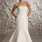 Mermaid Strapless Sweep Train Satin Wedding Dress Bridal Gown