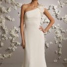 One Shoulder Chiffon Wedding Dress Bridal Gown