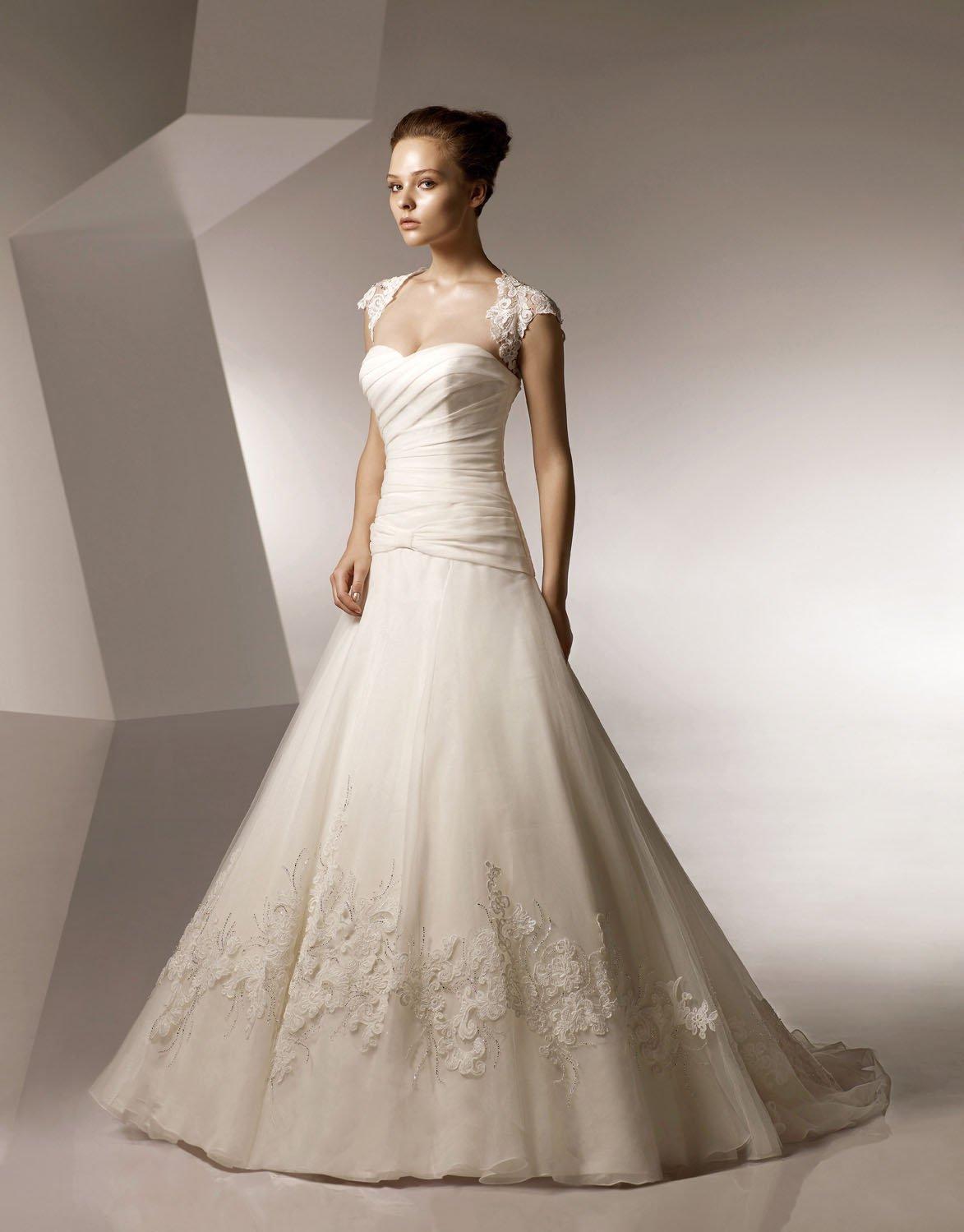 Sweetheart Appliqued Beading Organza Wedding Dress Bridal Gown