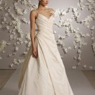 Floor-length Spaghetti Strap Backless Taffeta Wedding Dress Bridal Gown JH004