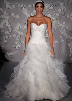 Sweetheart Strapless Organza Beading Wedding Dress Bridal Gown JH009