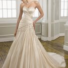 A-line Sweetheart Applique Lace-up 2012 Wedding Dress