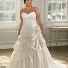 A-line Sweetheart Strapless Plus Size Wedding Dress 2012