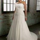 A-line Scoop Neckline Appliques Plus Size Wedding Dress 2012