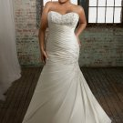 Sweetheart Strapless Beading Appliques Plus Size Wedding Dress 2012
