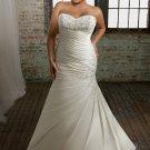 Sweetheart Strapless Beading Appliques Plus Size Wedding Dress 2012