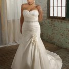 Sweetheart Strapless Beading Plus Size Wedding Dress 2012