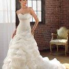 A-line Sweetheart Pick-up Organza Satin 2012 Wedding Dress