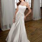 Straight Scoop Neckline Strapless 2012 Wedding Dress